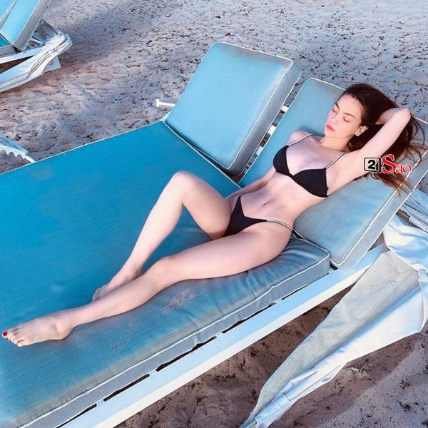 Sao Việt thả dáng trên giường với bikini: Hồ Ngọc Hà cùng Ngọc Trinh đỉnh cao, Minh Hằng và Diva Hồng Nhung mất điểm-5