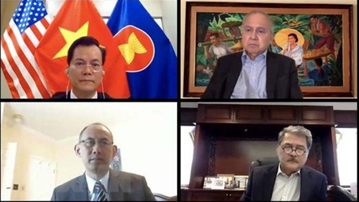 Viet Nam tham gia cuoc hop truc tuyen cua Uy ban ASEAN tai My hinh anh 1