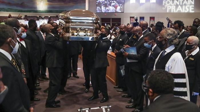 Hình ảnh hàng nghìn người dự đám tang George Floyd