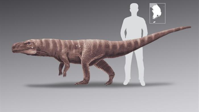 Cá sấu khổng lồ cổ đại đi bằng 2 chân - 1