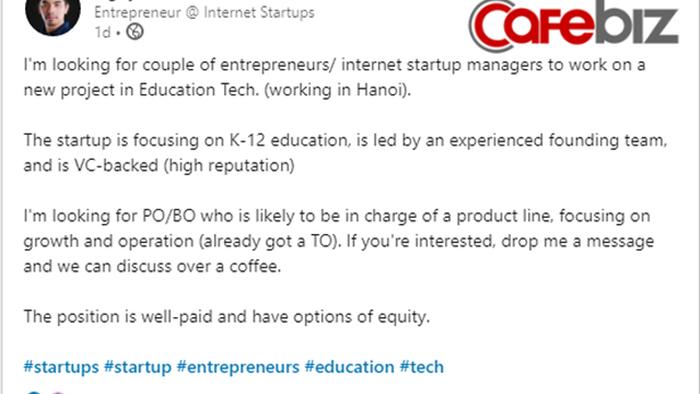 WeFit phá sản 1 tháng, Founder Khôi Nguyễn bất ngờ đăng tuyển nhân sự cho startup về EdTech! - Ảnh 1.