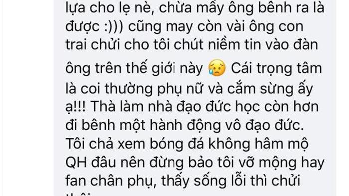 Fan nữ sụp đổ, vỡ tan niềm tin vào thần tượng Quang Hải - 4