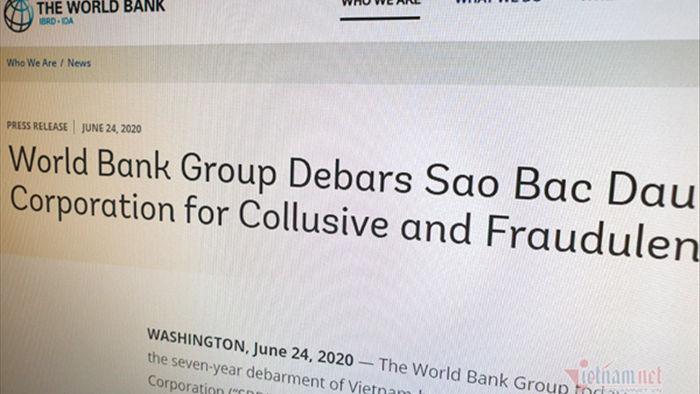 Bị World Bank cấm vận, công ty Sao Bắc Đẩu thừa nhận sai phạm