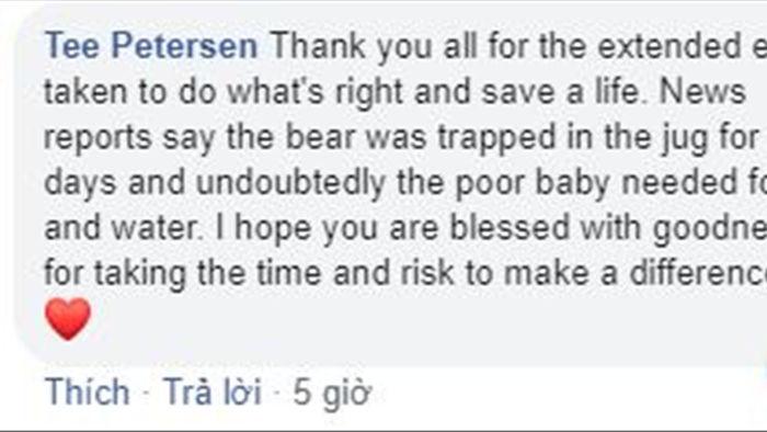 Ngạt thở với đoạn video giải cứu chú gấu vùng vẫy giữa hồ vì bị mắc kẹt đầu trong lọ nhựa - Ảnh 7.