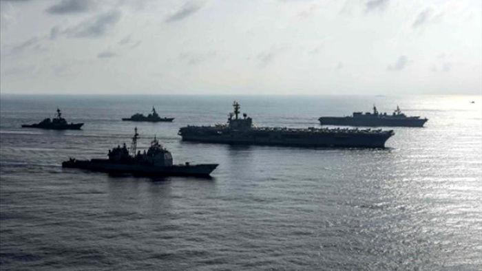 Mỹ điều tàu sân bay đến Biển Đông giữa lúc Trung Quốc tập trận