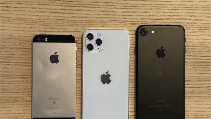 """Chùm ảnh iPhone 12 """"đọ dáng"""" cùng iPhone SE và iPhone 7 - 2"""
