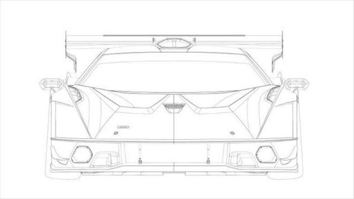 Lộ thiết kế của Lamborghini SCV12 qua hình ảnh bằng sáng chế bị rò rỉ - 1
