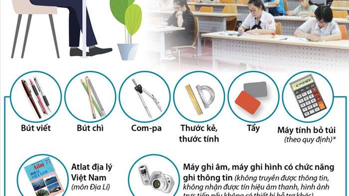 Tuyen sinh lop 10 tai Ha Noi: Thi sinh duoc mang gi vao phong thi? hinh anh 1