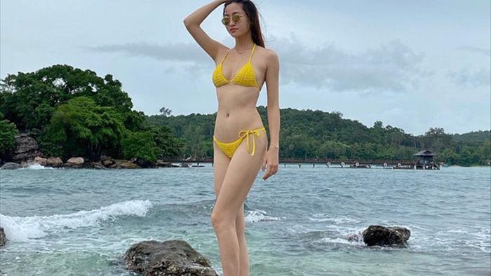 Hoa hậu Lương Thùy Linhtung ảnh bikini nóng bỏng chào hè - 2