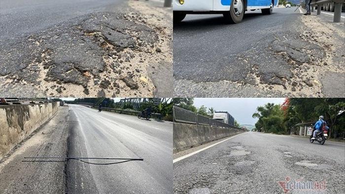 Quốc lộ nghìn tỷ chưa hết bảo hành đã xuống cấp nghiêm trọng