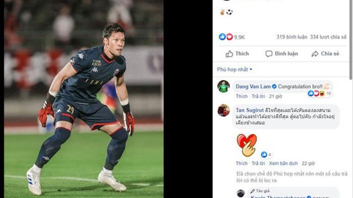 Văn Lâm chúc mừng thủ môn Thái Lan đi vào lịch sử giải Nhật Bản - 1