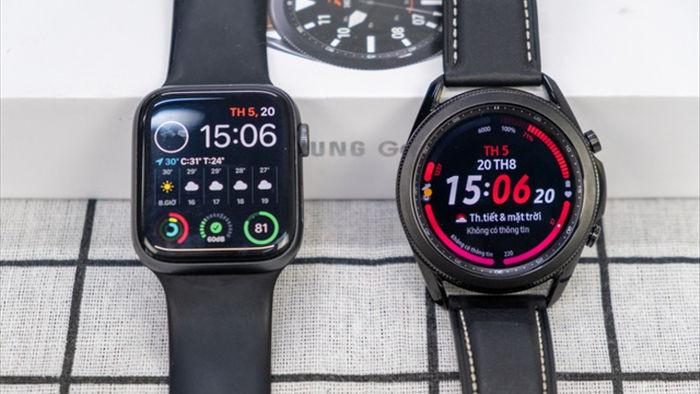 Mở hộp Galaxy Watch 3, so sánh cùng đối thủ Apple Watch - 3