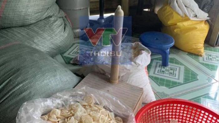 Thu giữ 324.000 bao cao su đã qua sử dụng được tái chế bán ra thị trường