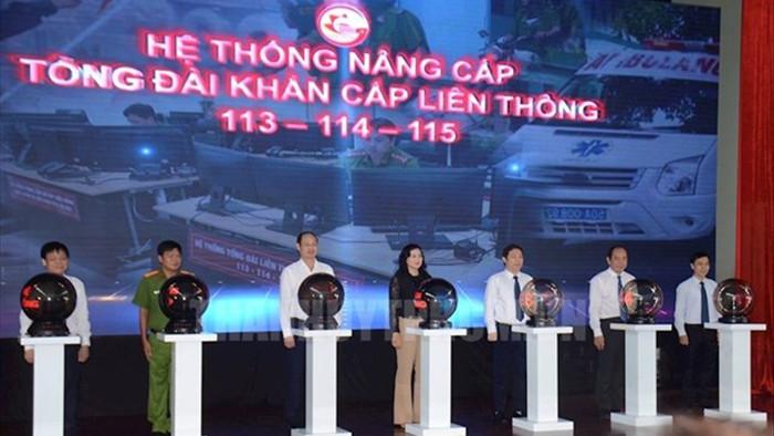 Thanh pho Ho Chi Minh ra mat Tong dai khan cap lien thong 113-114-115 hinh anh 1