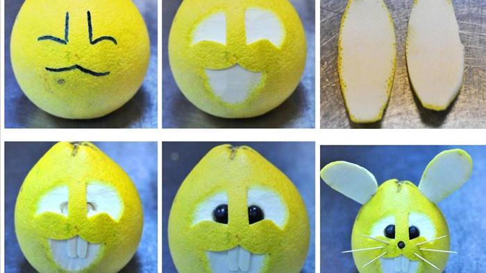 cách làm con vật bằng hoa quả 1