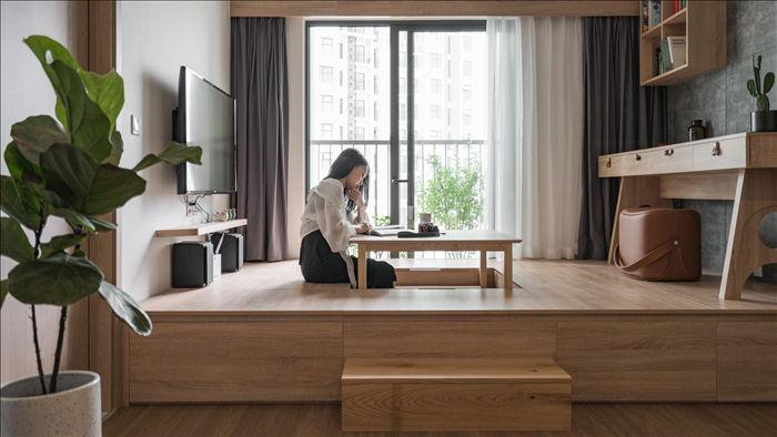 """Độc đáo căn hộ phong cách Nhật có phòng khách """"biến hóa bất ngờ"""" - 1"""