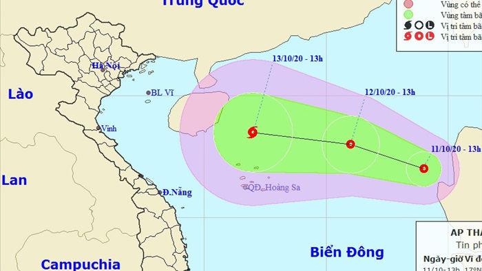 Bão số 6 tan khi vào đất liền, Biển Đông lại xuất hiện áp thấp nhiệt đới - 1