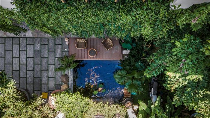 Nhà có khu vườn, bể cá Koi đẹp như resort của vợ chồng trẻ ở Đà Nẵng - 4