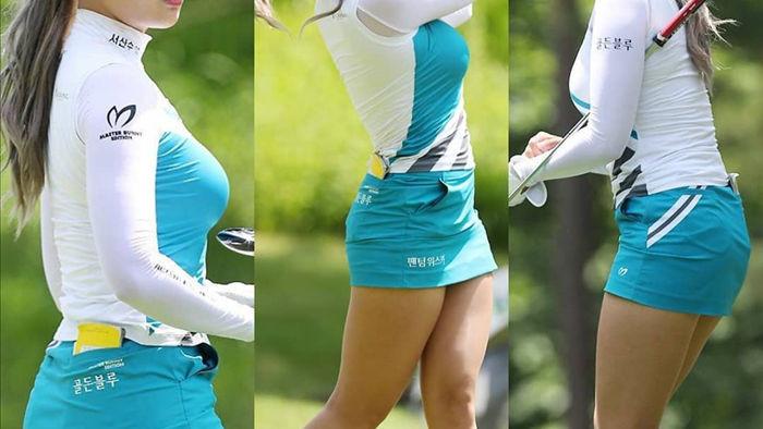 """Nữ golf thủ Hàn Quốc """"khốn khổ"""" vì quá gợi cảm - 6"""
