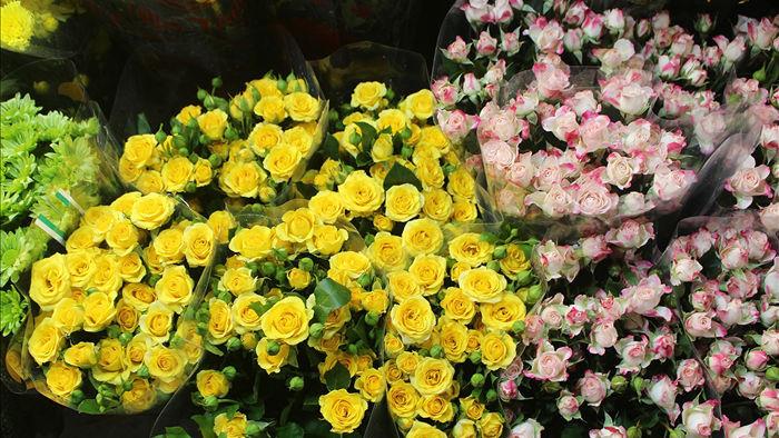Nửa đêm, dân Thủ đô tấp nập đội mưa, kéo nhau đi mua hoa dịp 20/10 - 2