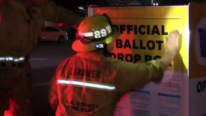 Bầu cử Mỹ 2020: Hòm phiếu bị phóng hỏa, nhiều phiếu bầu bị hủy - 1