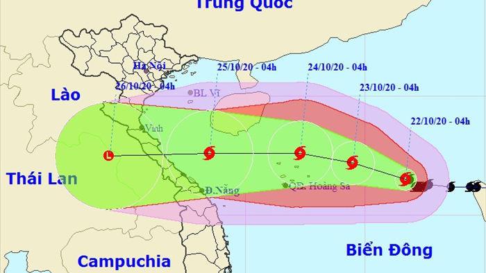 Bão số 8 sẽ tăng cấp khi tiến gần Quần đảo Hoàng Sa - 1