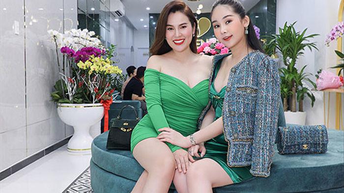 'Hoa hậu 3 con' Phương Lê đọ dáng với Lê Âu Ngân Anh