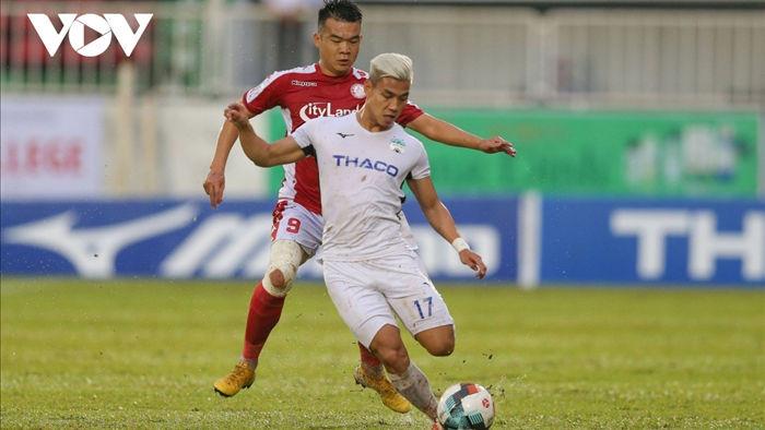 Văn Thanh bị treo giò ở vòng hạ màn V-League 2020. (Ảnh: Minh Hoàng)