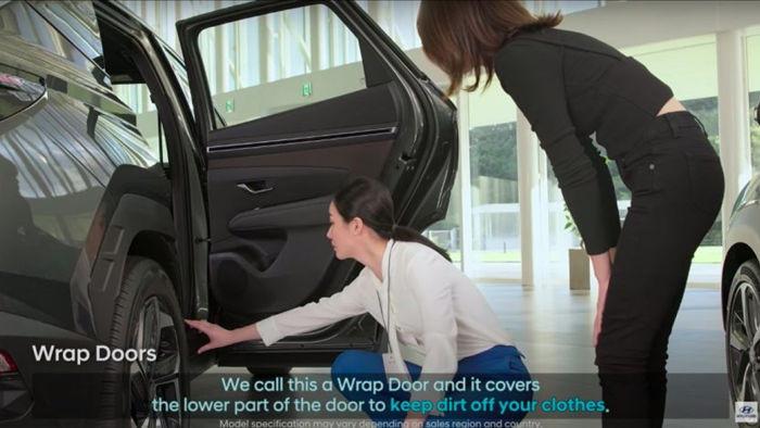 Tính năng Wrap Design được Hyundai cho biết sẽ giúp hành khách giảm thiểu khả năng bị bẩn quần áo