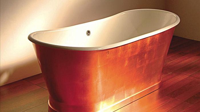 Kallista Archeo Copper Bathtub là sản phẩm thủ công được làm từ chất liệu đồng, trị giá 67.557 USD.