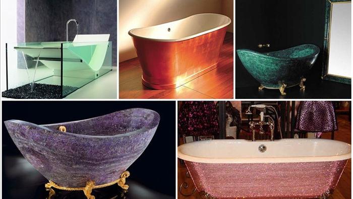 Những chiếc bồn tắm thuộc diện đắt đỏ nhất thế giới phải kể đến Le Grand Queen, Golden tub, The Baldi Rock Crystal tub...