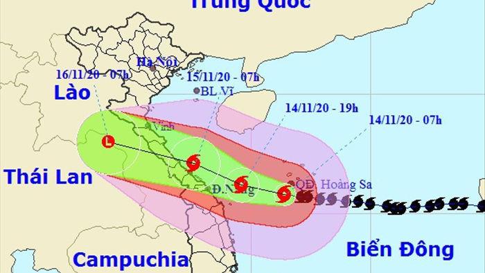Tối nay bão số 13 vào vùng biển Hà Tĩnh đến Quảng Ngãi - 1