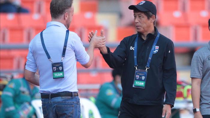 HLV Akira Nishino không hài lòng khi đội tuyển Thái Lan bị cầm hoà - 1