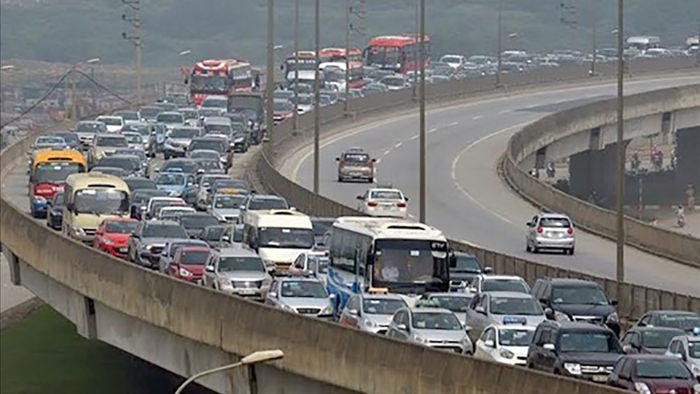 'Cõng' lưu lượng xe quá lớn, vành đai 3 trên cao quá tải nghiêm trọng