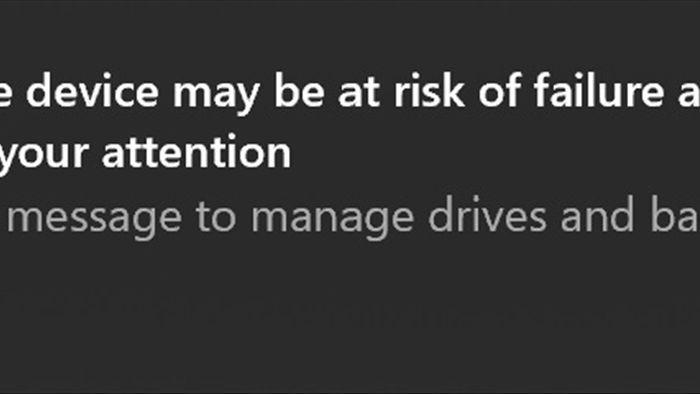 Windows 10 sẽ cảnh báo người dùng nếu ổ đĩa sắp hỏng để tránh mất dữ liệu - 1