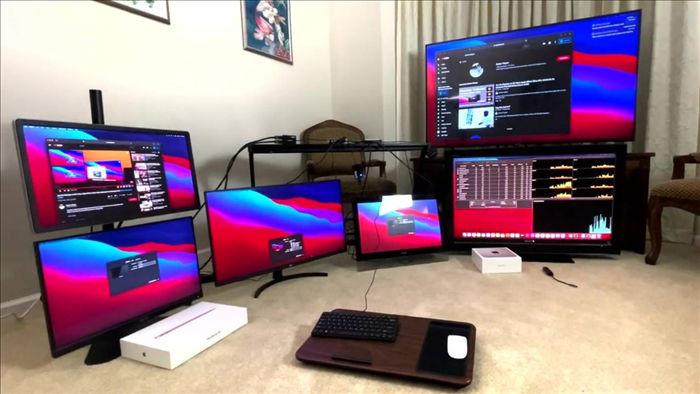 Máy Mac dùng chip Apple M1 có thể kết nối tối đa 6 màn hình nhờ giải pháp thay thế đặc biệt - Ảnh 1.