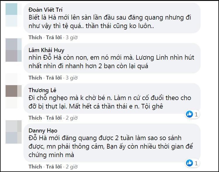 Lương Thùy Linh - Trần Tiểu Vy - Đỗ Thị Hà gây tranh cãi với màn catwalk thảm họa-5