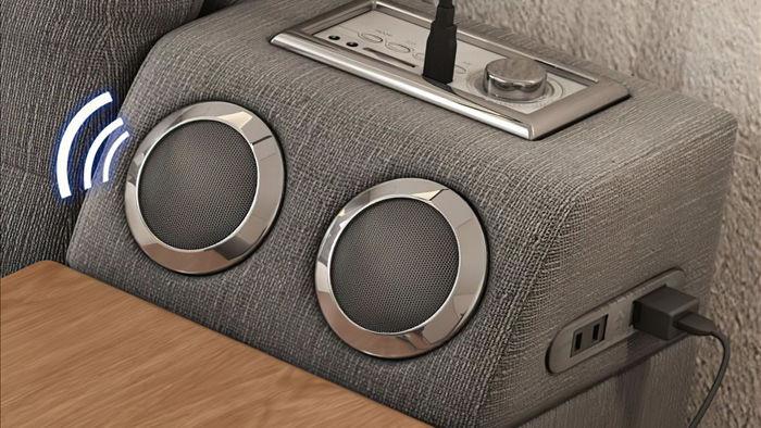 Chiếc giường trong mơ cho các thánh lười, gắn kèm cả ghế massage và hệ thống loa cực xịn sò, giá chỉ từ 65 triệu đồng - Ảnh 7.