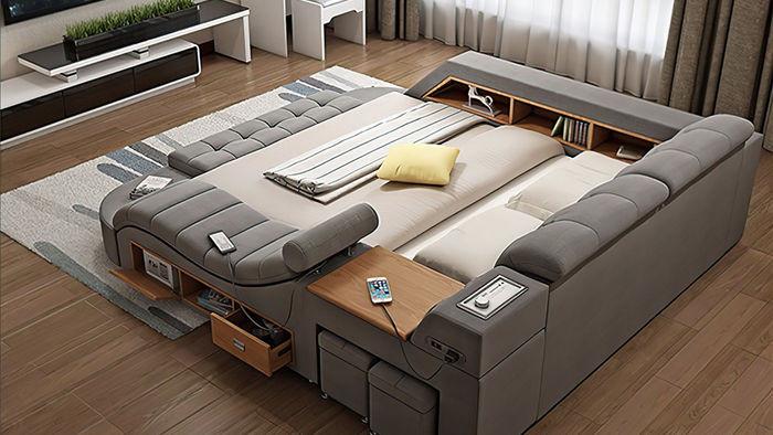 Chiếc giường trong mơ cho các thánh lười, gắn kèm cả ghế massage và hệ thống loa cực xịn sò, giá chỉ từ 65 triệu đồng - Ảnh 3.