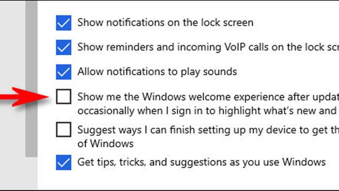 Hướng dẫn tắt tự động mở cửa sổ giới thiệu sau khi cập nhật Windows 10