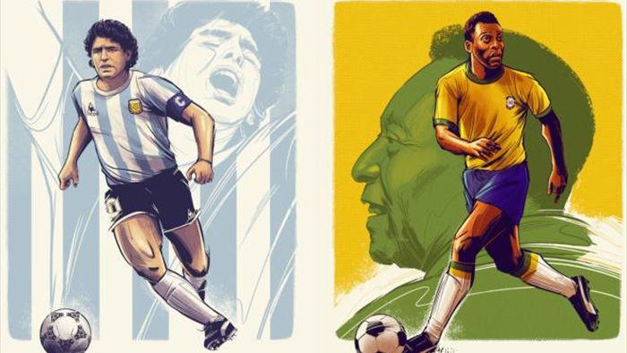 Đội hình xuất sắc nhất mọi thời đại: Messi sánh vai Pele, Maradona - 2