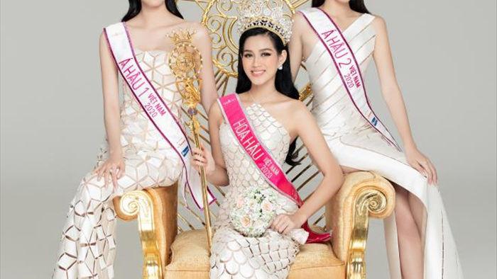 Nhan sắc Hoa hậu Đỗ Thị Hà và 2 Á hậu sau một tháng đăng quang - 1