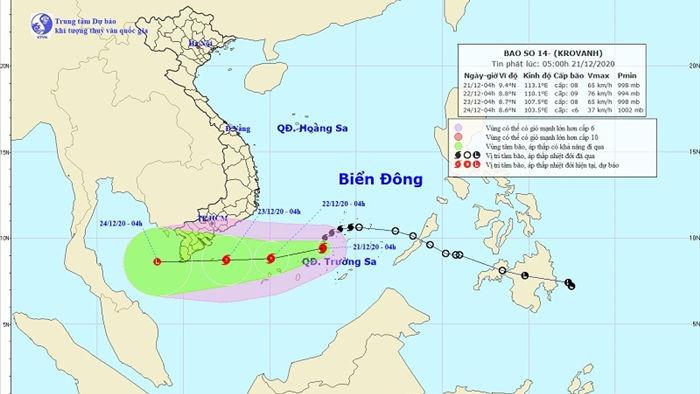 Miền Bắc vẫn có rét hại, bão số 14 giật cấp 11 trên quần đảo Trường Sa