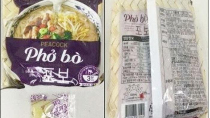 Phở ăn liền do Acecook sản xuất bị thu hồi ở Hàn Quốc - 1