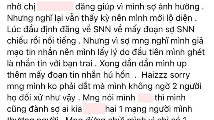 """Ồn ào Khánh Vân bị tố """"nhõng nhẽo"""" trai có bồ: Được nam chính công khai bênh vực, chủ bài đăng vừa xin lỗi đã bóc phốt tiếp - Ảnh 11."""