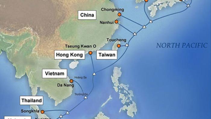 Hai tuyến cáp quang biển quốc tế IA, APG đang gặp sự cố