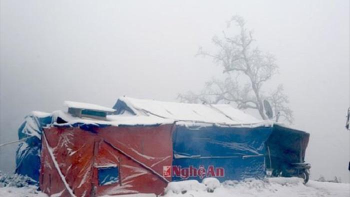 Rét tê buốt, dân mạng xuýt xoa chia sẻ lại ảnh tuyết rơi ở Nghệ An  - 5