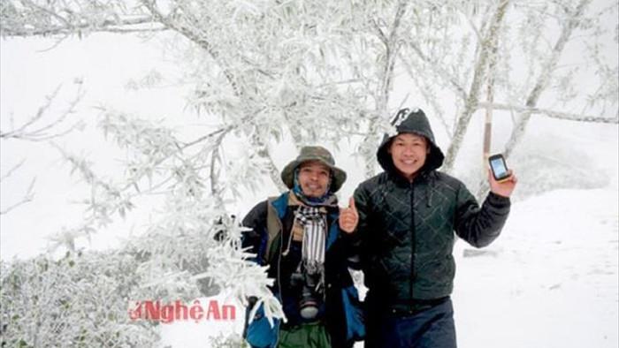 Rét tê buốt, dân mạng xuýt xoa chia sẻ lại ảnh tuyết rơi ở Nghệ An  - 1