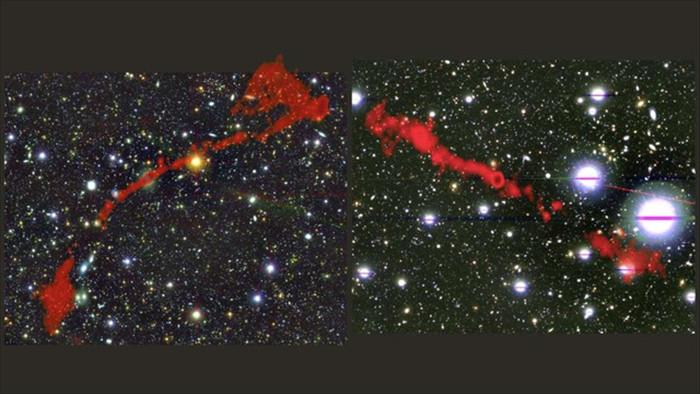 Phát hiện 2 thiên hà vô tuyến khổng lồ lớn hơn 60 lần so với Dải Ngân hà - 1