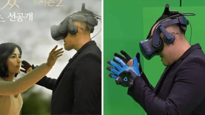 Rơi nước mắt khoảnh khắc chồng gặp lại vợ đã mất nhờ công nghệ thực tế ảo - 1